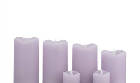 ОРИГИНАЛЕН комплект от 6 восъчни свещи с дистанционно и батерииFlambi