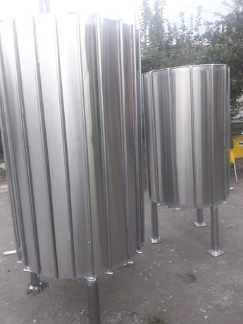 Bazine inox stocare lapte cu compartimente