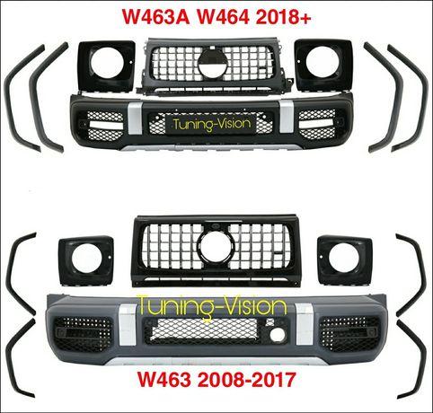 W463 W463A W464 пакет фейслифт предна броня, решетка,раздувки,Mercedes