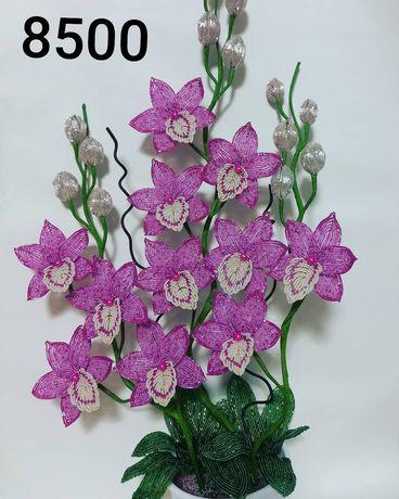 Орхидеи, цветы из бисера