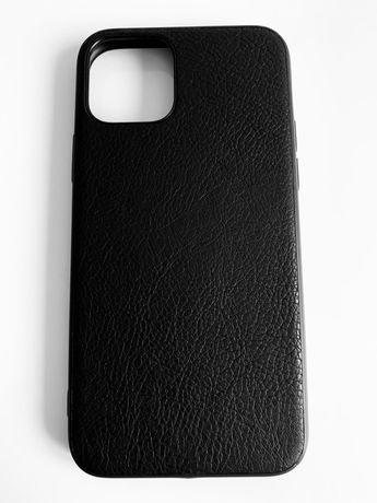 iPhone 11 / PRO / MAX - Husa Ultra Slim Silicon Imitatie Piele Neagra