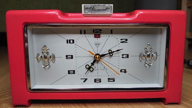 Ceas de masa mecanic vechi Diamond chinezesc cu alarma functional