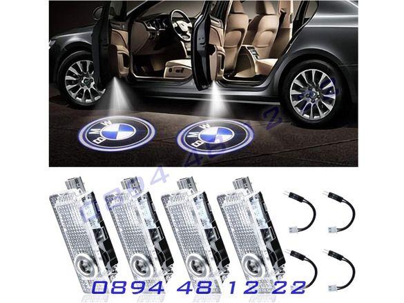 LED ЛЕД Светещо Лого Проектор Врата Автомобил Кола Проектори BMW БМВ