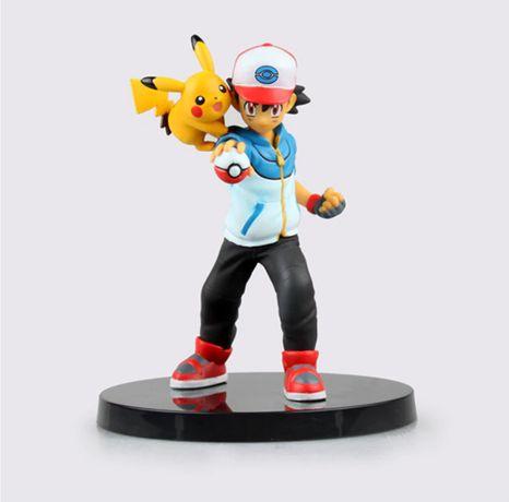 Figurina Ash Ketchum Pokemon Pikachu 14 cm