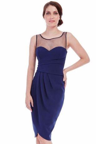 Rochie eleganta bleumarin