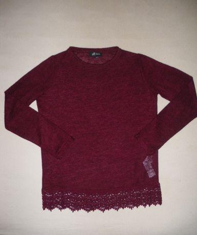 """Промо оферта: лек дамски пуловер """"RESERVED"""", S, бордо, с дълъг ръкав"""