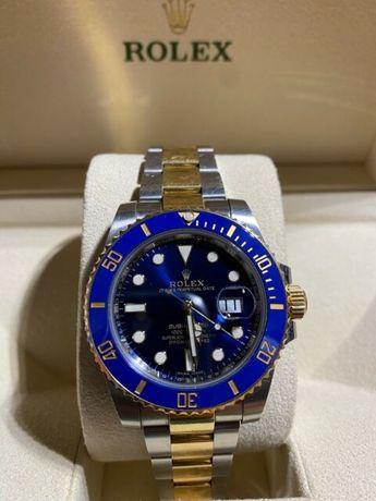 Rolex submariner blue ceramic bezel.