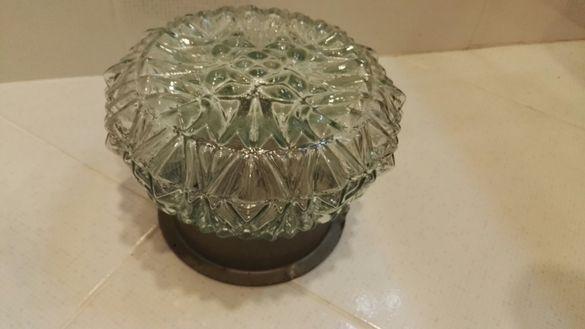 Кристален ретро лампион плафониера за 1 крушка Е27
