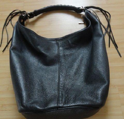 geanta din piele naturala cu franjuri