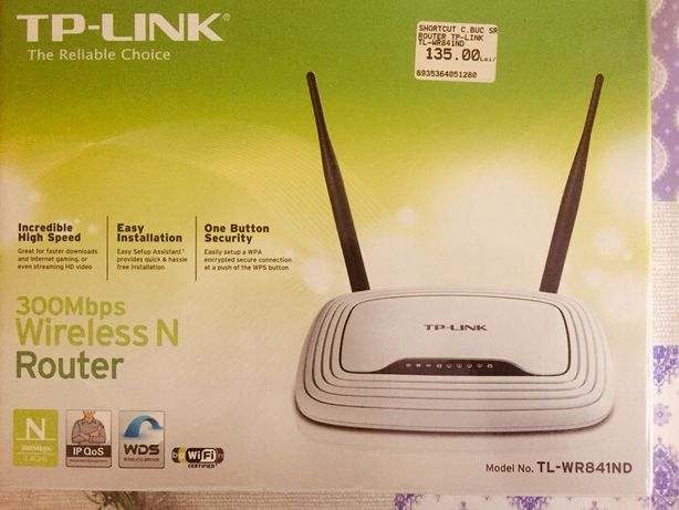 Vand router TP-Link TL-WR841ND