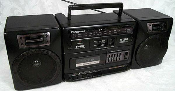 Panasonic radio casetofon boombass