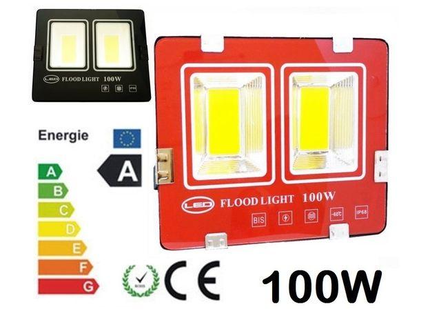 Proiector LED 100w Slim Exterior Proiectoare casa 100 w lampa