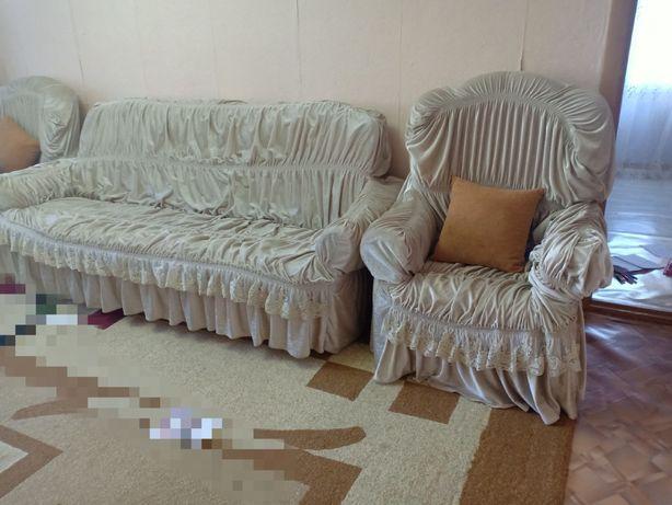 диван 2 кресла вместе