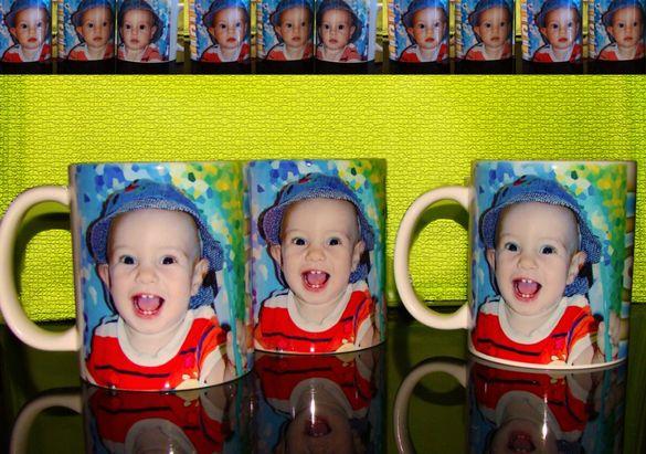 Фото чаша със снимка и текст+подарък картичка и иконка