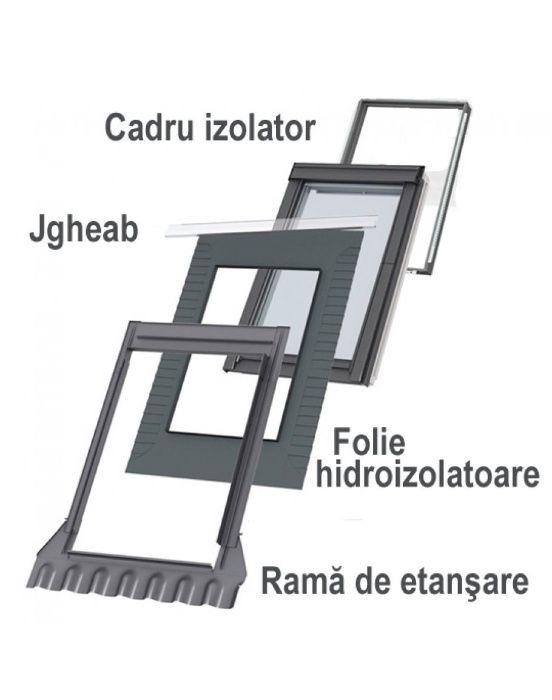 Rama etansare ferestre mansarda Velux EDW 2000 MK04 78x98 cm