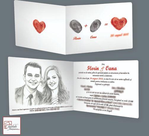 Invitatii nunta si botez personalizate