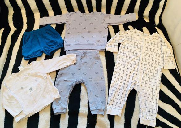 Лот от дрехи H&M за момче 74 размер (6-9мес.)