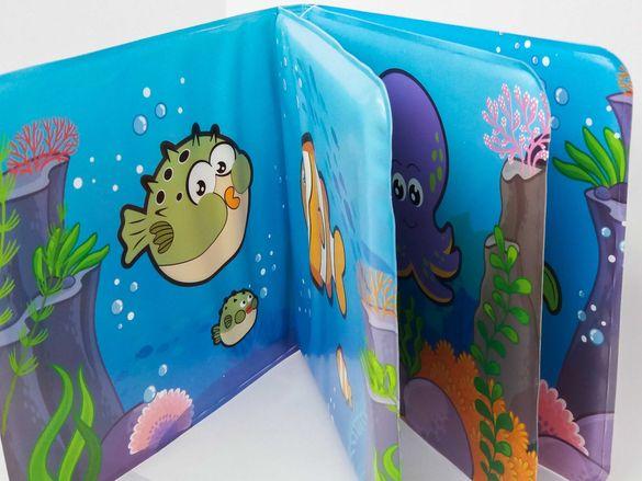 НОВИ! Мека книжка за баня Морски приятели