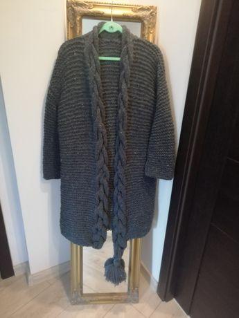 Cardigan / Palton toamna/ iarna handmade lana cu acril S/ M