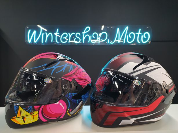 Новый, Мото Шлем со Встроенными Очками! Интеграл хорошего качества!