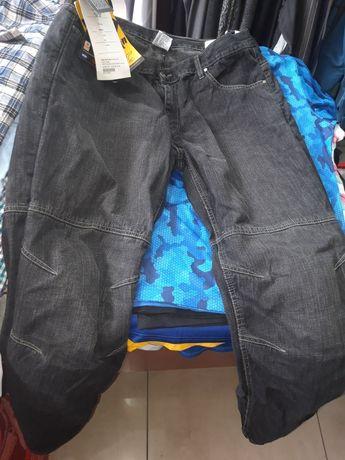 Мото джинсы с защитой колен