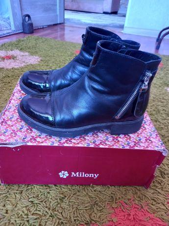 Осенние дорогие ботинки фирмы юничел осенние для девочек 32 размера