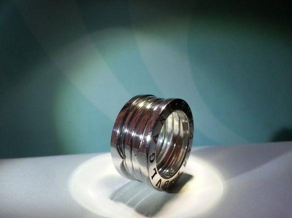 Сребърен пръстен пружина, по модел на BVLGARI