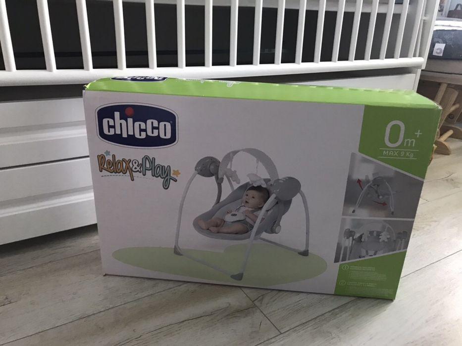 Balansoar muzical pentru copii Chicco Relax & Play, Cool Grey (Gri), 0 Popesti-Leordeni - imagine 1