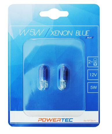 Крушки M-TECH Powertec W5W T10 12V 5W WEGDE Blue