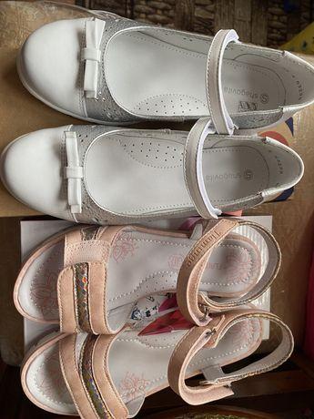 Новые сандали и балетки для девочек