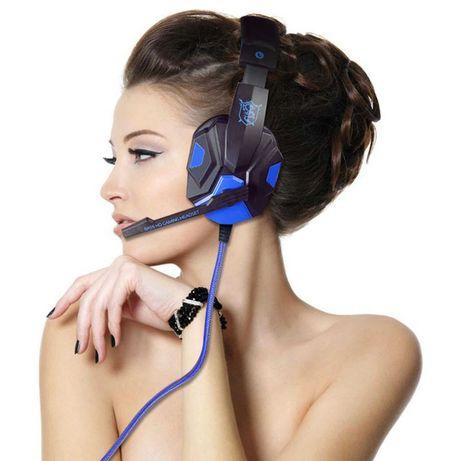Геймърски слушалки с лед светлини за лаптоп,телефон,плейстейшън и др
