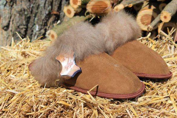 Домашни чехли от естествена кожа