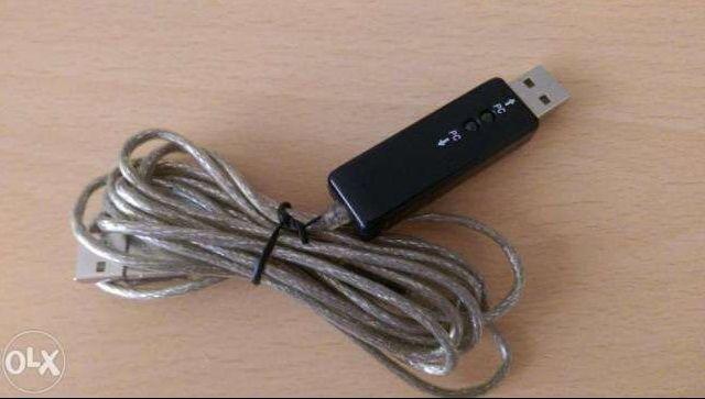 Cablu USB - USB pentru conectare 2 PC-uri, laptop, tablete cu Windows