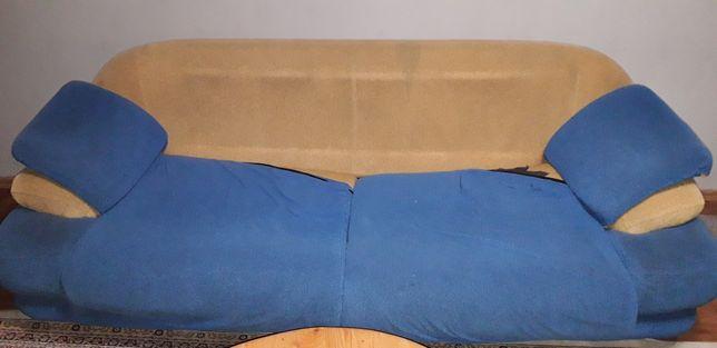 Мягкий уголок б/у,Торг 3ка 2ка и 2 крес, сине-жёлтого комбинированные