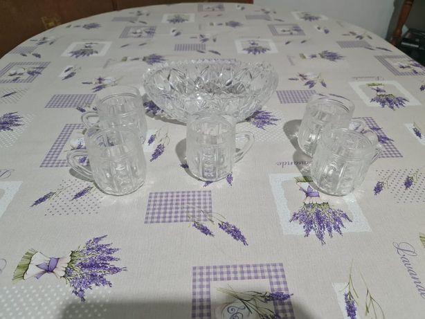 Хрусталь ваза и стаканы, рюмки
