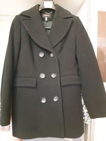 Палто KENSOL - размер 42 - цвят черен