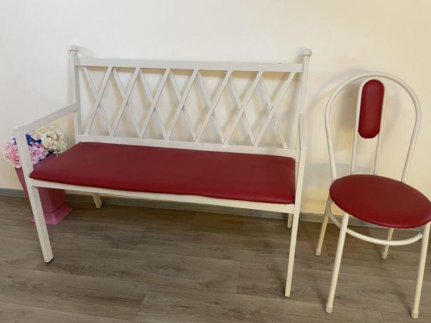Скамья со стулом