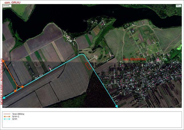 MOARA VLASIEI - CALDARUSANI,superocazie,1600 mp,padure,lac,desc DJ 101