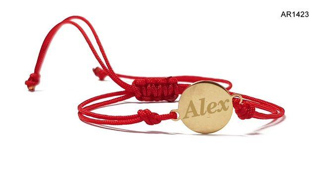 Bratara Aur 14 K pentru copii personalizata cu numele ales AR1423