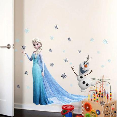 Sticker Elsa Frozen STICKERE PERETE camera fete Disney IEFTINE 60x45cm