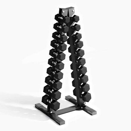 Сет Гири Хескагонал 1 до 10 кг, Включена Поставка Пирамида , Дъмбели