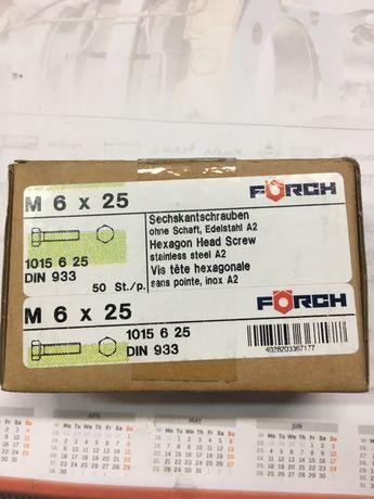 Șurub inox A2 M6X25mm