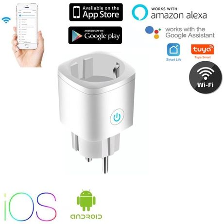 EU Smart Plug WiFi Socket EU 16A Timing Function Tuya Smart Life APP C