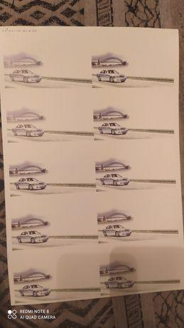 Бумага для визиток (с фоном)