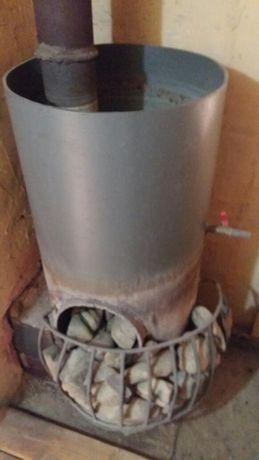 Загатовка труба  на банную печь