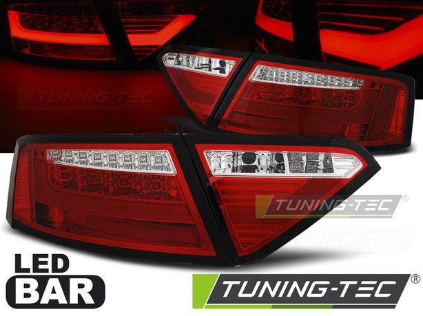 Stopuri LED BAR Audi A5 07-06.11 Coupe Rosu/Alb