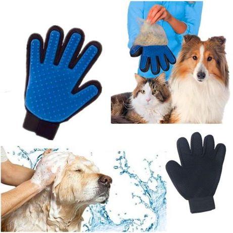 True Touch Масажираща ръкавица-махане на косми от домашни любимци