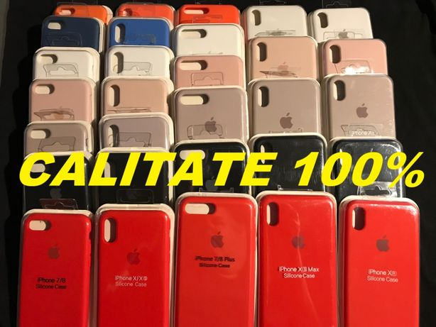 Husa iPhone Silicon 7/8 11 7+/8+ Plus X XS XR XsMax SE 2 Carcasa 1