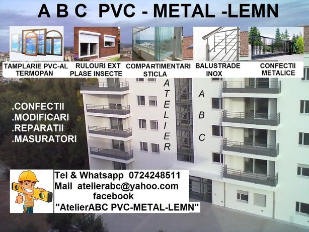 tamplarie ABC- PVC-Metal-Lemn termopan tripan București-Constanta