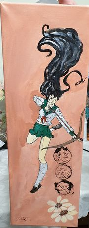 Pictura acrilica pe pânză Kagome Higurashi din serialul Inuyasha